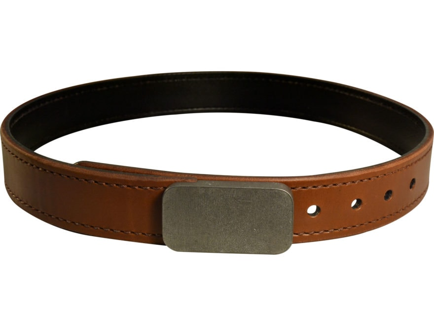 """Lenwood Leather Blunt Force Trauma Hybrid Belt 1.5"""" Stainless Steel Buckle Leather"""