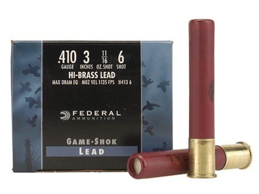 Federal Game-Shok Hi-Brass Ammunition 410 Bore
