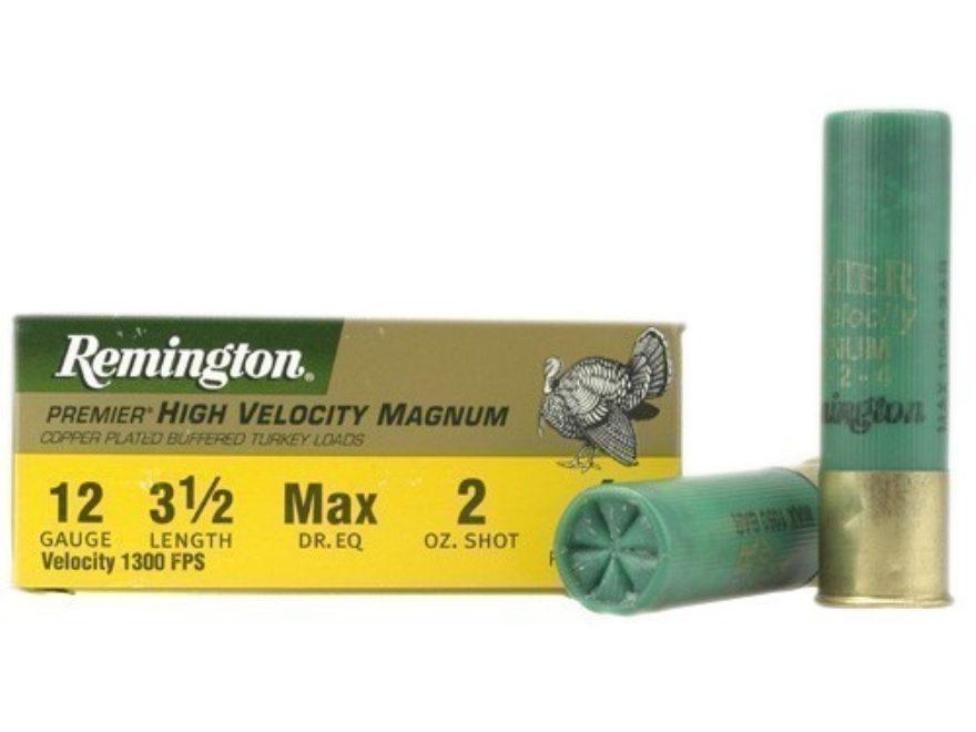 "Remington Premier Magnum Turkey Ammunition 12 Gauge 3-1/2"" High Velocity 2 oz #4 Copper..."