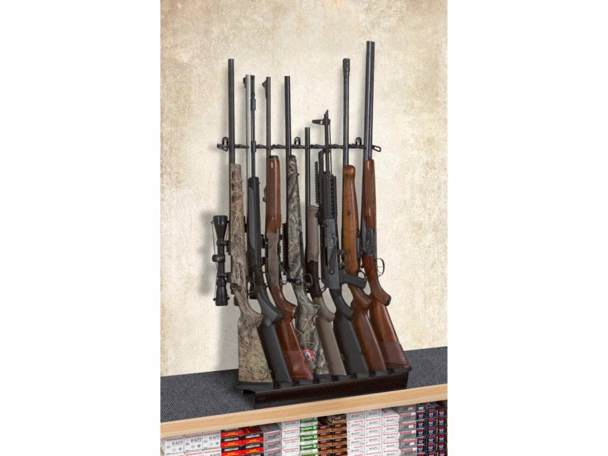 Rack'Em Racks Deluxe 8 Rifle Shelf Display Rifle Barrel Rest and Buttstock Tray