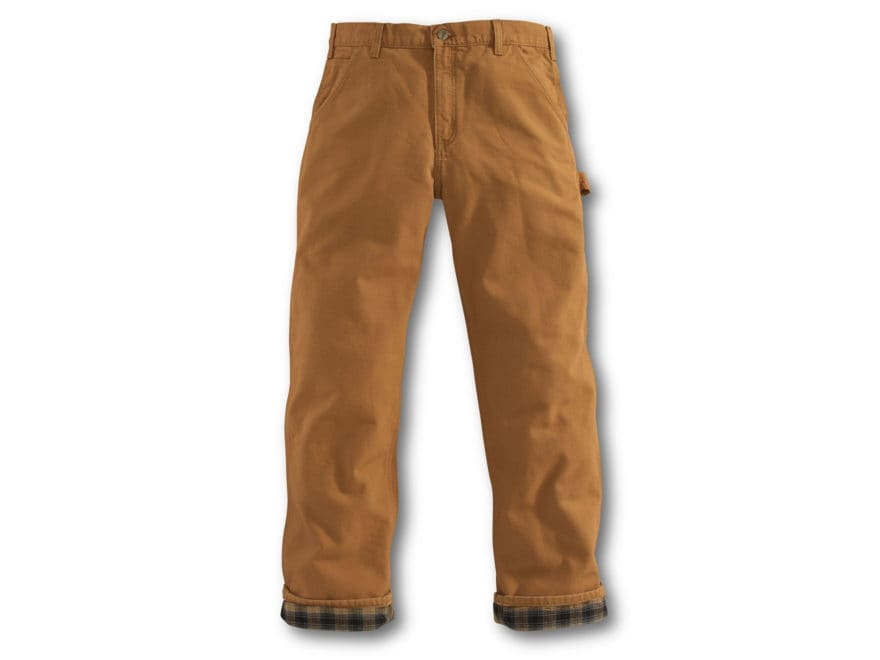 6ad76b6a3d Carhartt Men's Washed Duck Work Dungaree Flannel Lined Pants Cotton.  Alternate Image; Alternate Image ...
