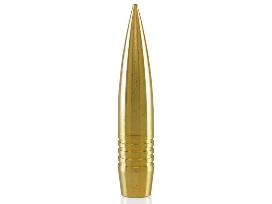 Lehigh Defense Match Solid Bullets 375 Caliber (375 Diameter) 330 Grain Solid Brass Boa...