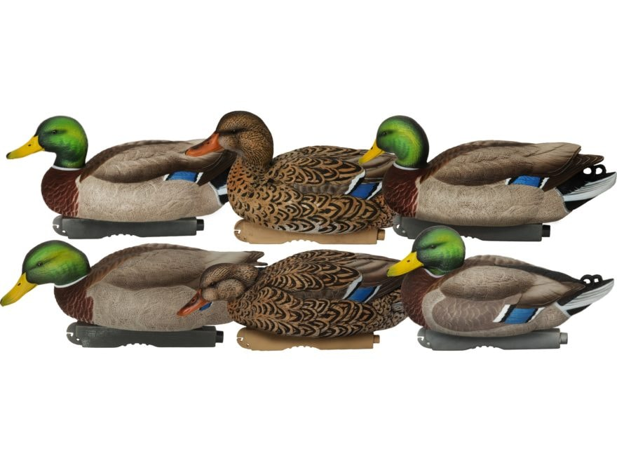 GHG XD Series Pro-Grade Harvester Mallard Duck Decoy Pack of 6