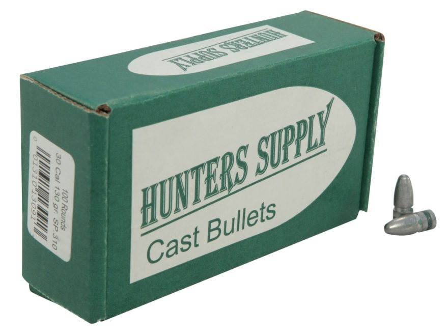 Hunters Supply Hard Cast Bullets 30 Caliber 7.62x39mm (310 Diameter) 130 Grain Lead Spi...