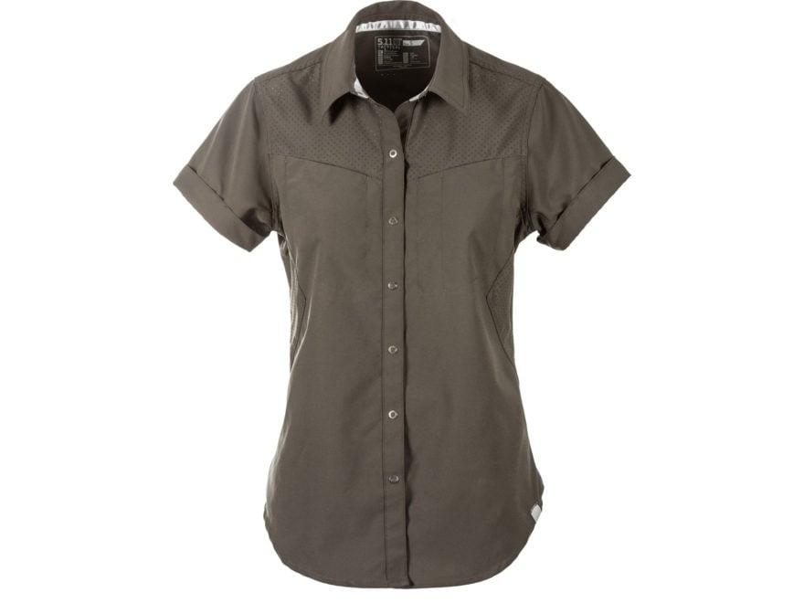 5.11 Women's Freedom Flex Button-Up Shirt Short Sleeve Polyester