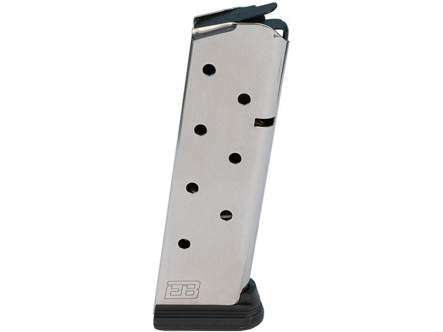 Ed Brown 8-Pack Magazine with Base Pad 1911 Government, Commander 45 ACP 8-Round Stainl...