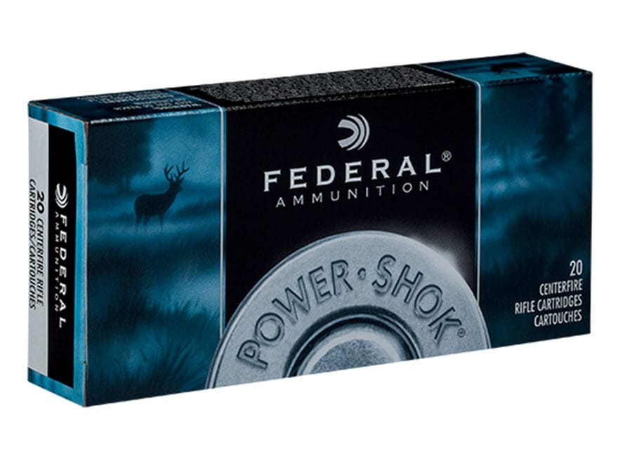 Federal Power-Shok Ammunition 25-06 Remington 117 Grain Soft Point Box of 20