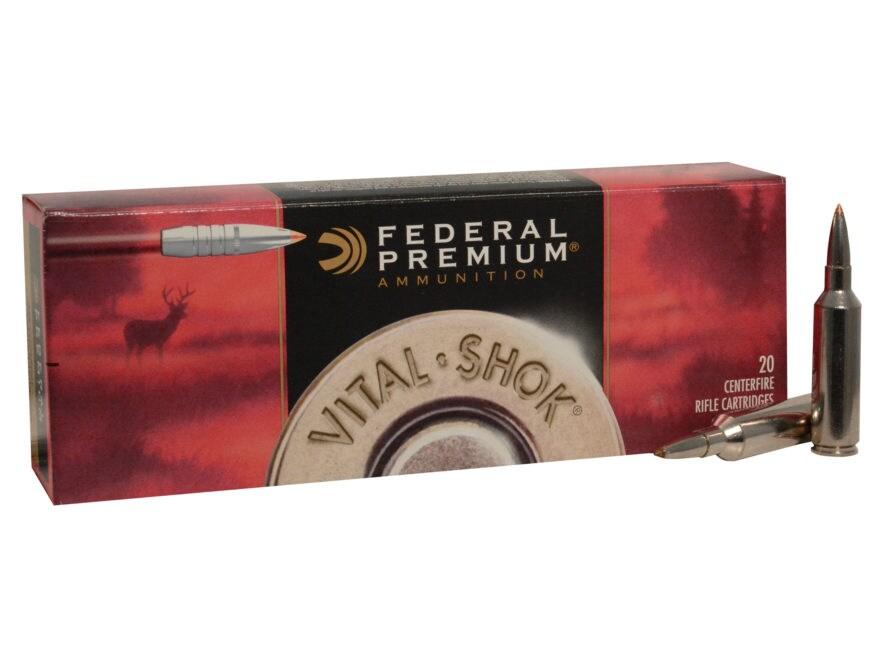 Federal Premium Vital-Shok Ammunition 270 Winchester Short Magnum (WSM) 140 Grain Troph...