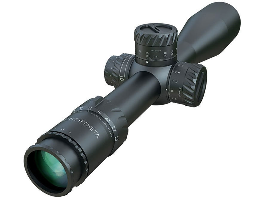 Tangent Theta TT525P Rifle Scope 34mm Tube 5-25x 56mm Side Focus Double Turn Elevation ...