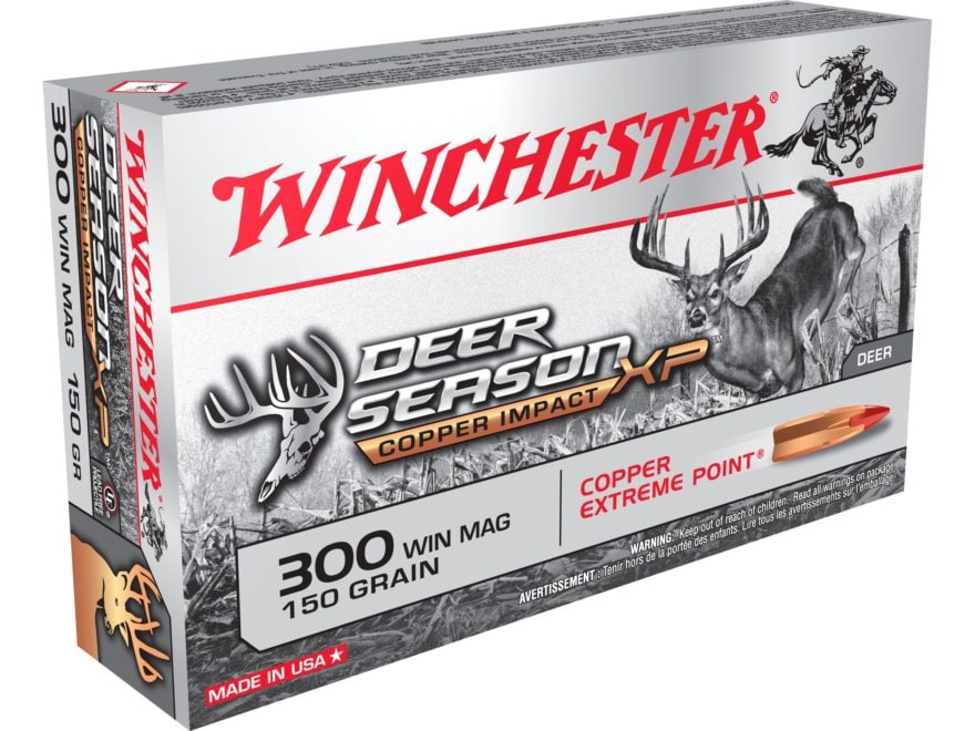 Winchester Deer Season XP Copper Impact Ammunition 300 Winchester Magnum 150 Grain Soli...