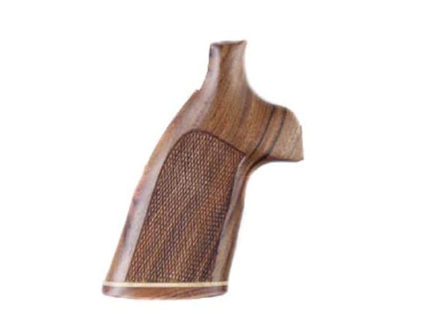 Hogue Fancy Hardwood Grips with Accent Stripe Colt Python Checkered