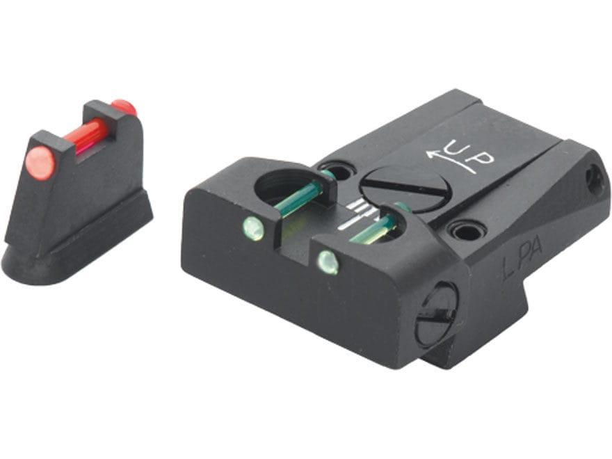LPA TTF Adjustable Sight Set CZ 75, 85 Steel Fiber Optic