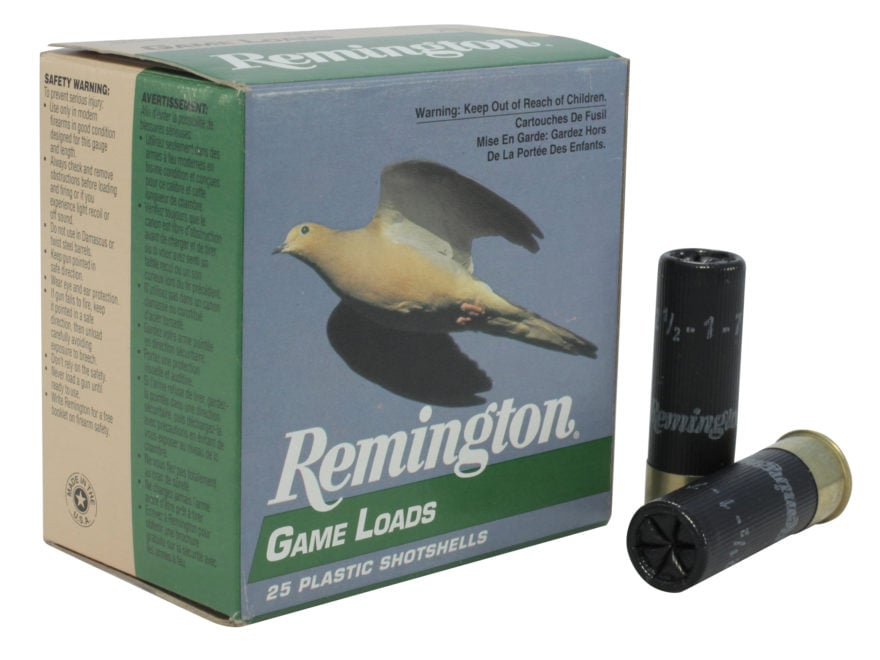 "Remington Game Load Ammunition 16 Gauge 2-3/4"" 1 oz #7-1/2 Shot Box of 25"
