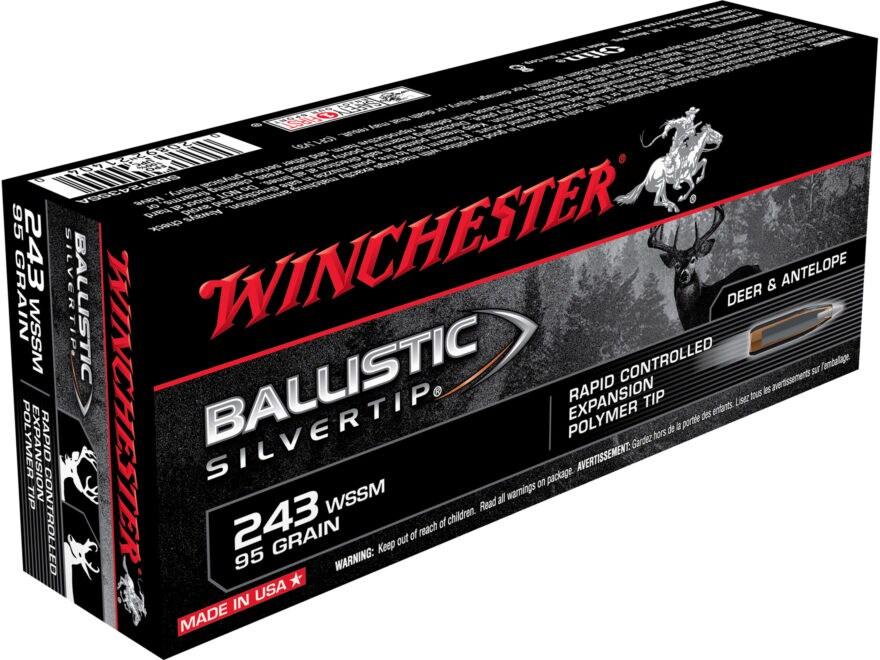 Winchester Ballistic Silvertip Ammunition 243 Winchester Super Short Magnum (WSSM) 95 G...