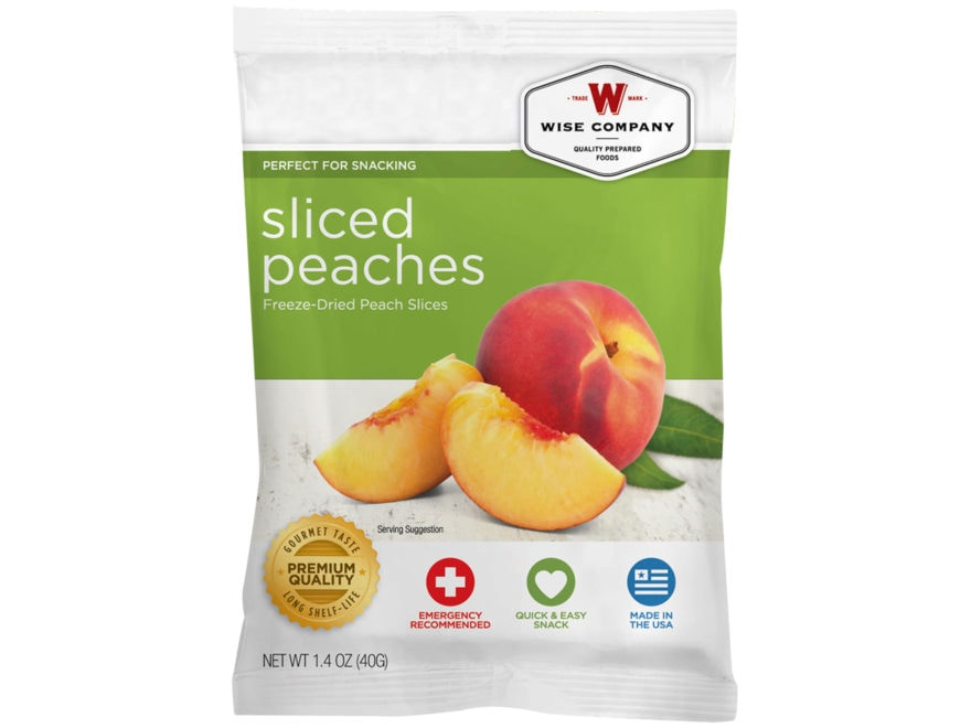 Wise Company Long Term 25 Year 4 Serving Sliced Peaches Freeze Dried Food