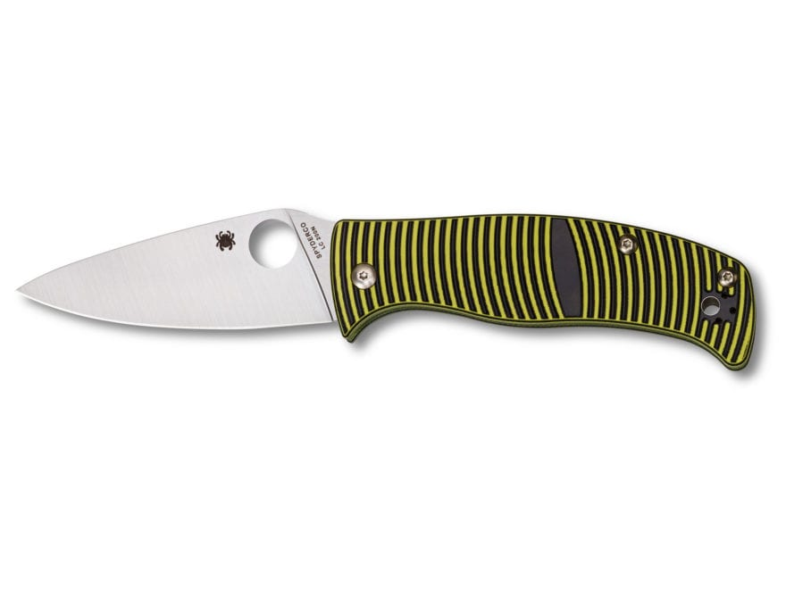 "Spyderco Caribbean Folding Knife 3.7"" LC200N Stainless Steel Blade G-10 Handle"