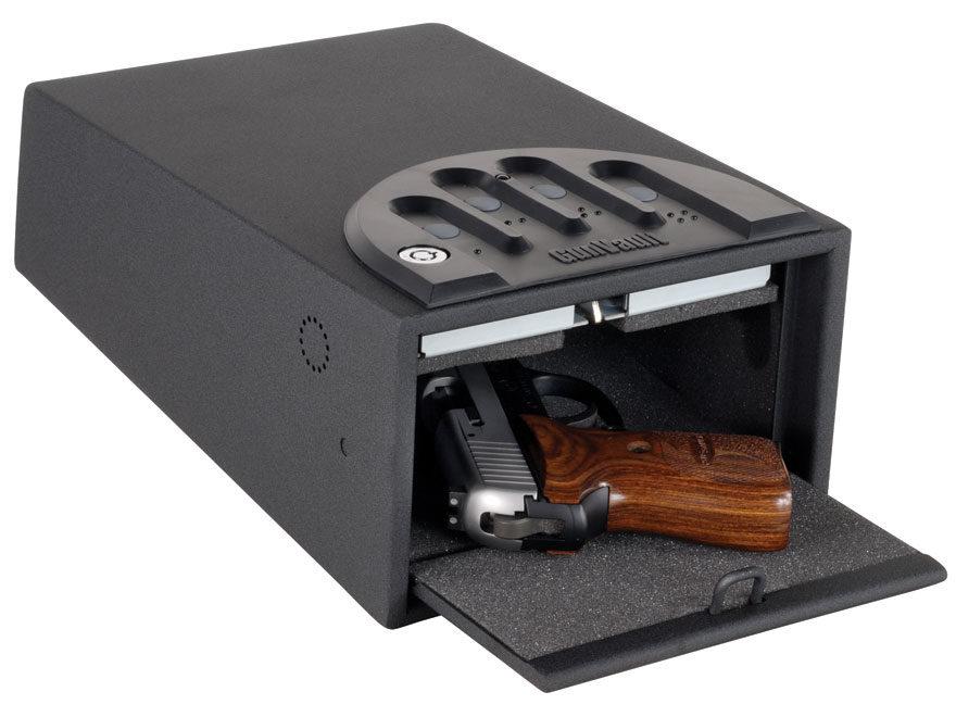 GunVault Standard MiniVault Personal Safe with Electronic Lock Black