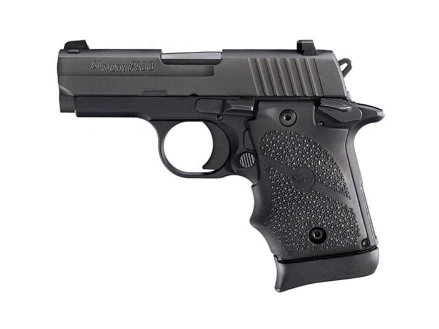 "Sig Sauer P938 Pistol 9mm Luger 3"" Barrel Siglite Night Sights 7-Round Nitron Rubber"