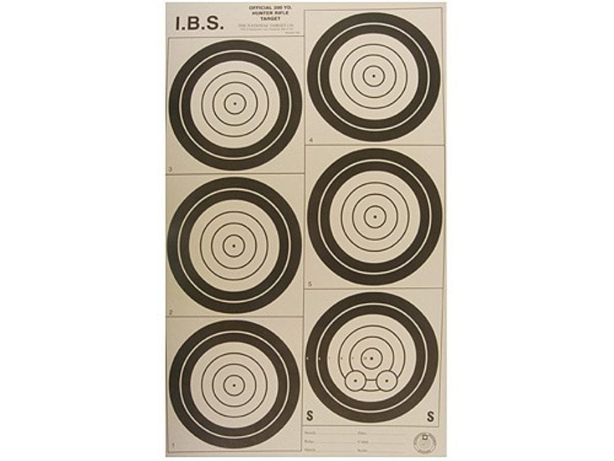 National Target International Bench Rest Shooters Target IBS 200 YD Hunter Rifle Paper ...
