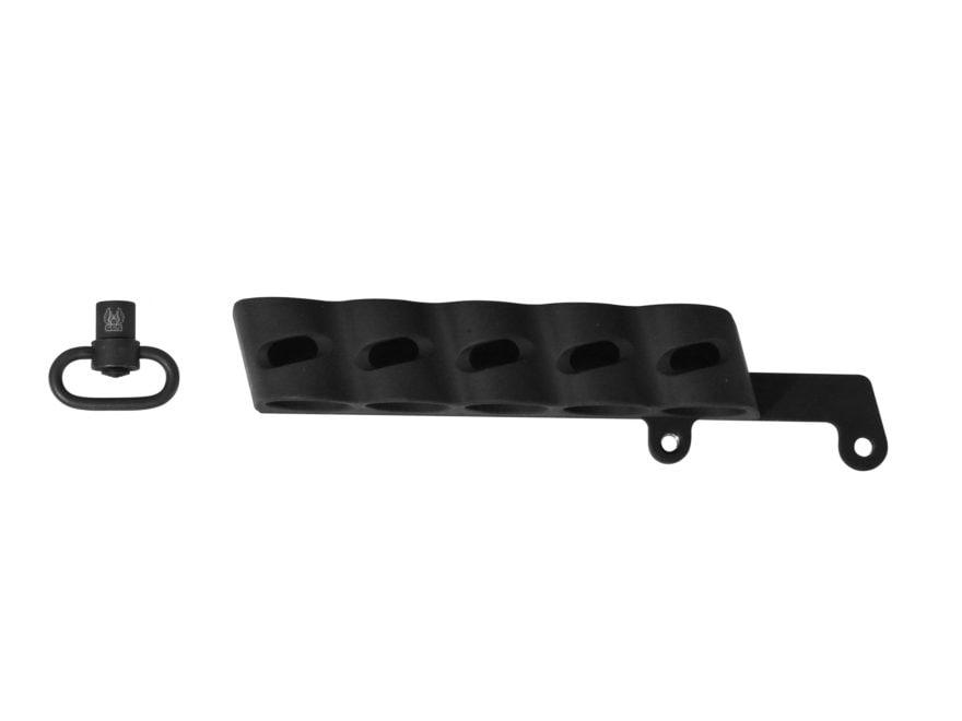 GG&G Side Saddle Shotshell Carrier Remington 870 Tac-14 12 Gauge 5-Round  with Quick De...