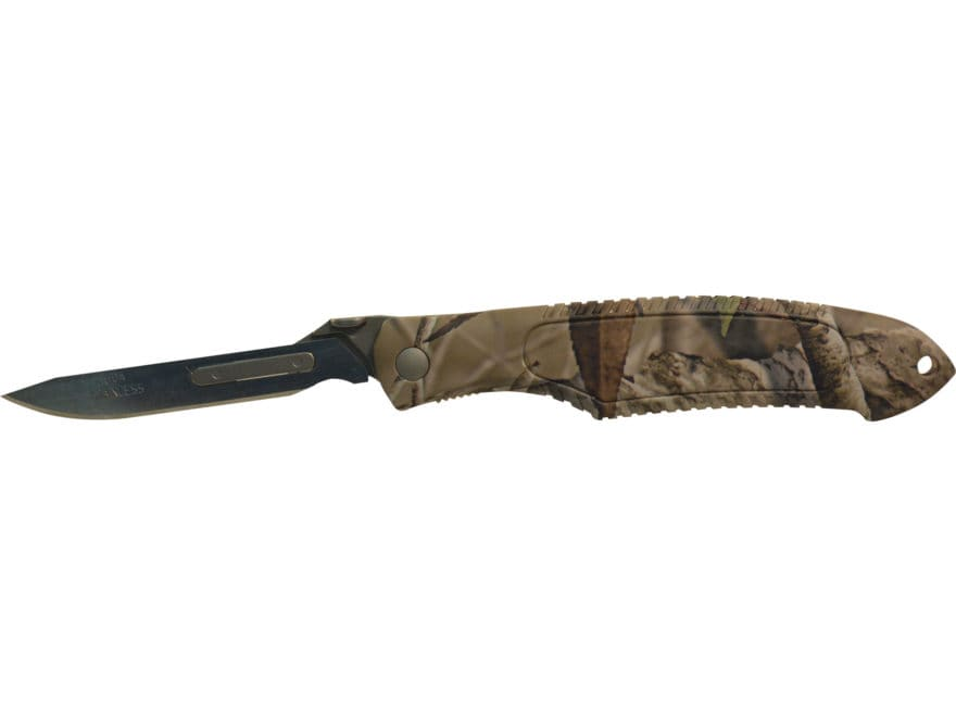 Havalon Piranta Predator Series Folding Skinning Knife ABS Handle Camo