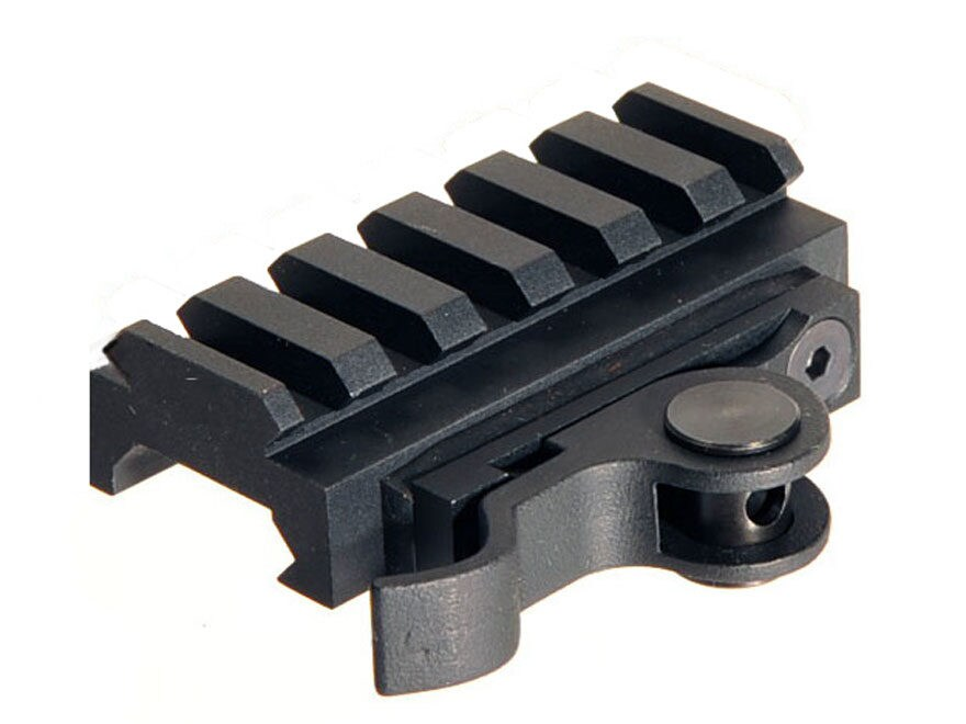 AimShot Picatinny-Style Quick-Release Riser Mount Low Profile Aluminum Matte