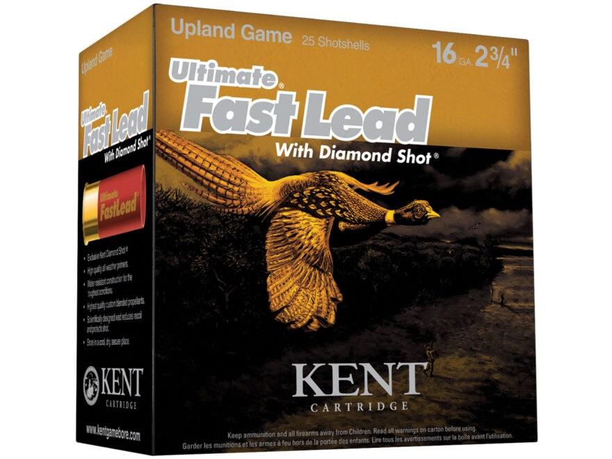 "Kent Cartridge Ultimate Fast Lead Diamond Shot Upland Ammunition 16 Gauge 2-3/4"" 1 oz #..."