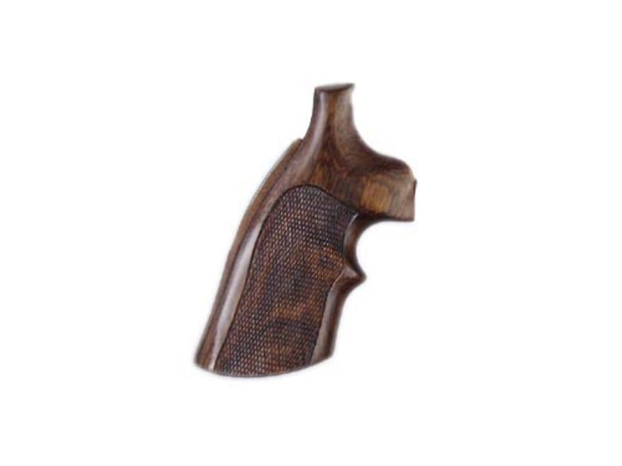 Hogue Fancy Hardwood Grips with Top Finger Groove Colt Diamondback Checkered Cocobolo