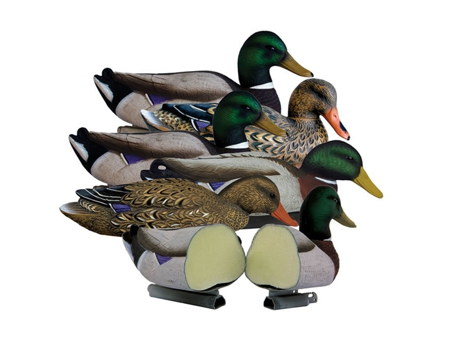 Higdon Magnum Foam Filled Mallard Duck Decoy Polymer Pack of 6