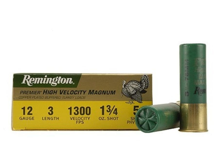 "Remington Premier Magnum Turkey Ammunition 12 Gauge 3"" High Velocity 1-3/4 oz of #5 Cop..."