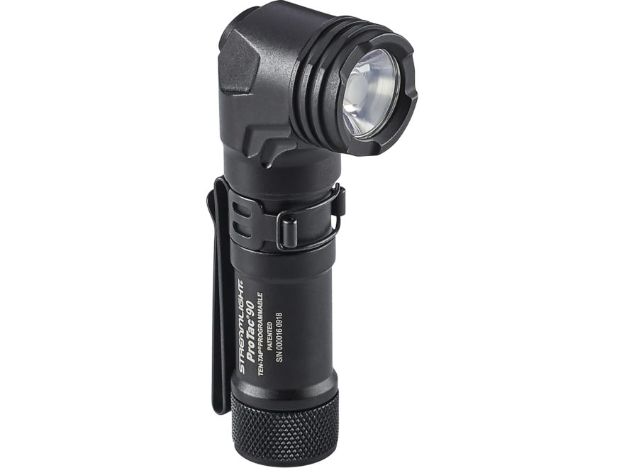 Streamlight ProTac 90 Flashlight with 1 CR123A and 1 AA Battery Aluminum Black