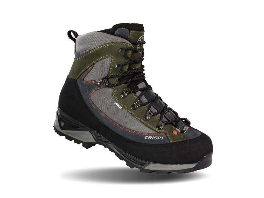 "Crispi Colorado 8"" Gore-Tex Waterproof Hunting Boots Leather/Synthetic Gray/Green"