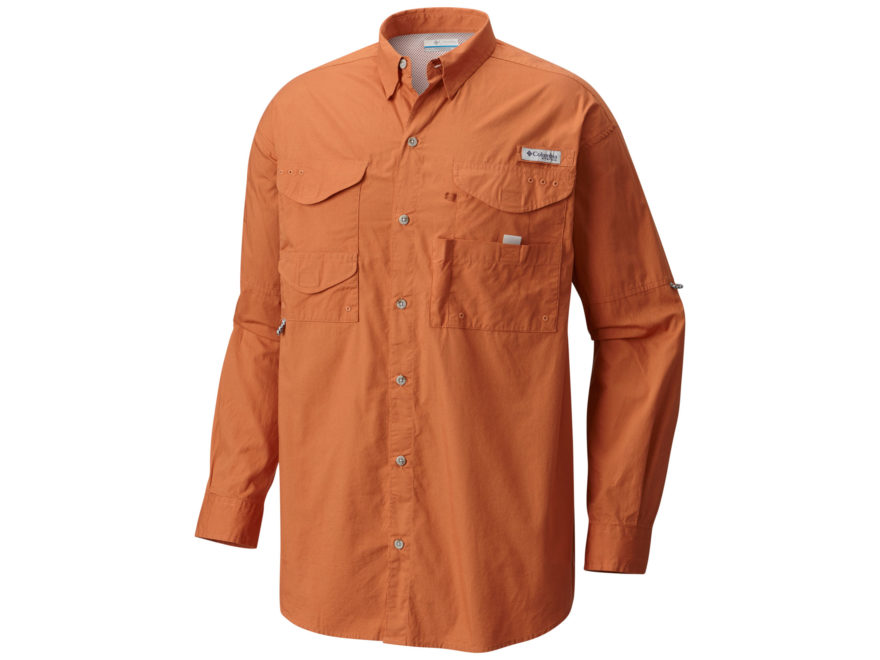 Columbia Men's PFG Bonehead Button-Up Shirt Long Sleeve Cotton