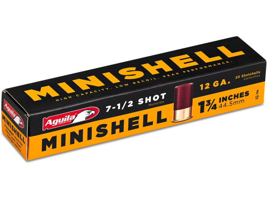 "Aguila Minishell Ammunition 12 Gauge 1-3/4"" 5/8 oz #7-1/2 Shot"