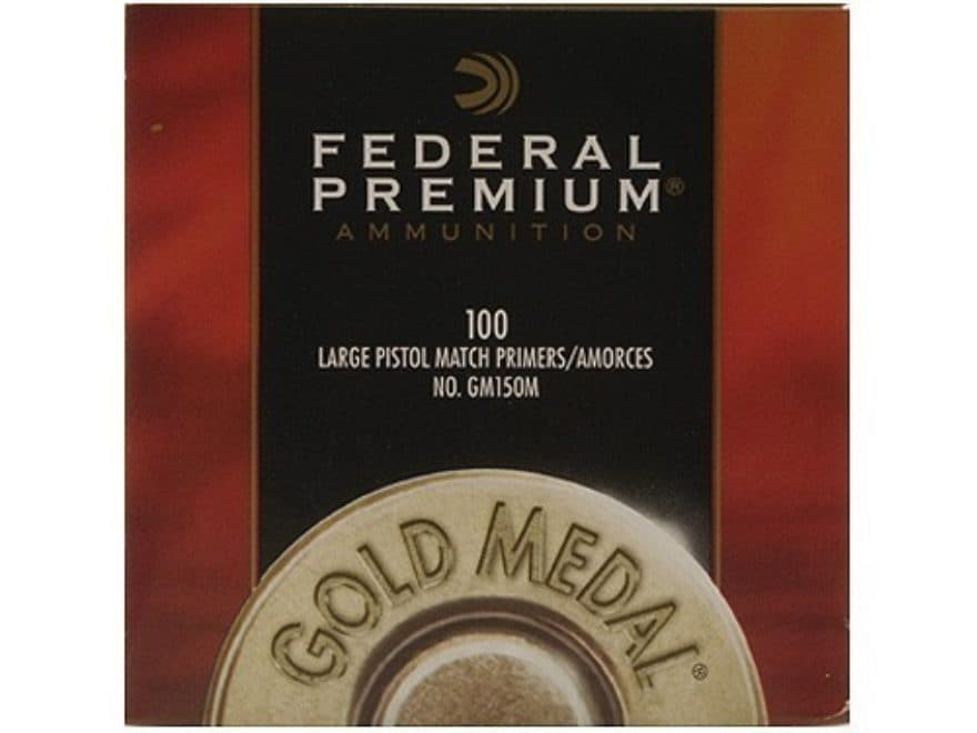 Federal Premium Gold Medal Large Pistol Match Primers #150M