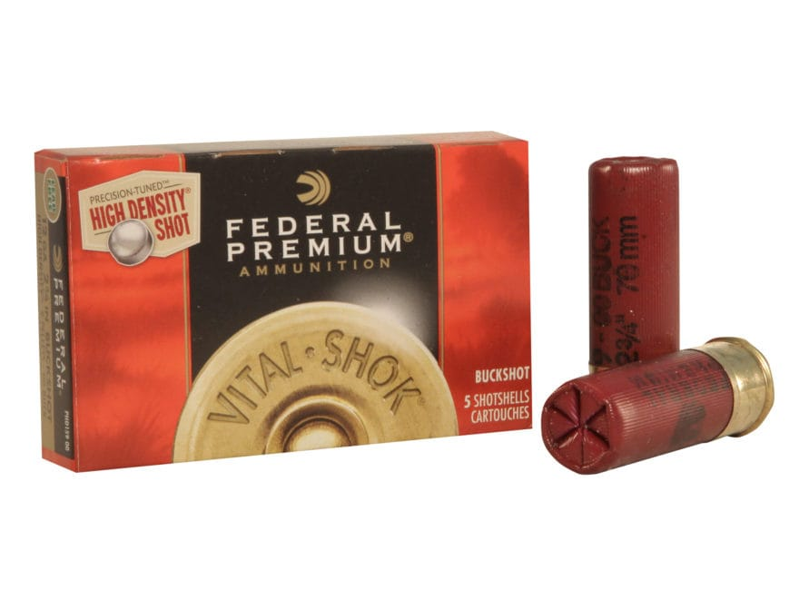 "Federal Premium Vital-Shok Ammunition 12 Gauge 2-3/4"" 00 High Density Lead-Free Bucksho..."