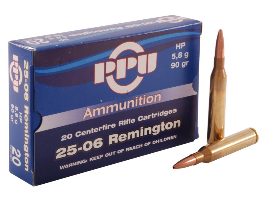 Prvi Partizan Ammunition 25-06 Remington 90 Grain Hollow Point Box of 20