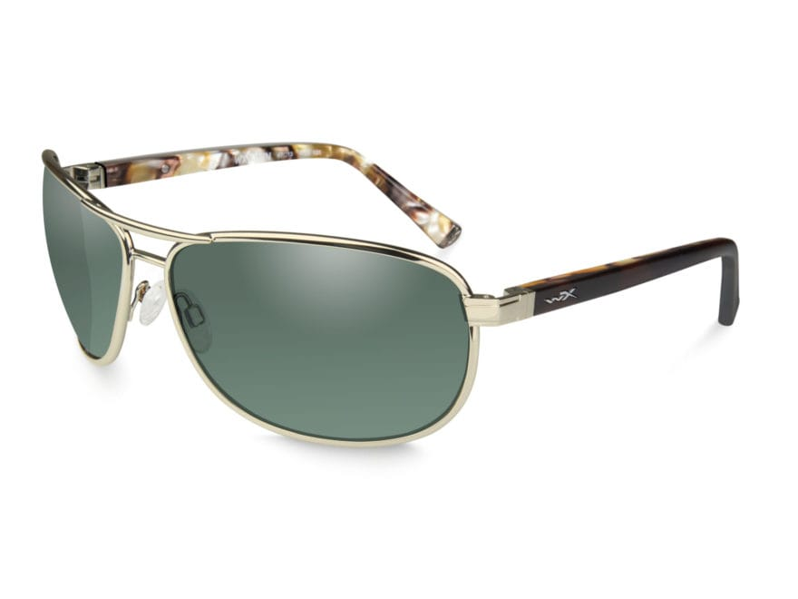 fc32c42f25 Wiley X WX Klein Polarized Sunglasses Gold Frame Green - MPN  ACKLE06