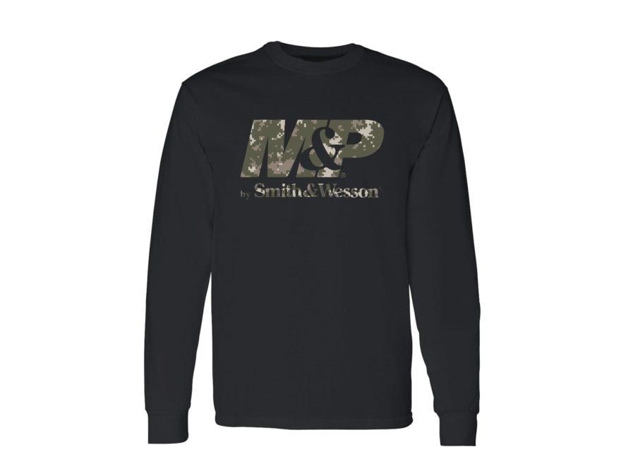 Smith & Wesson M&P Men's Digicam Logo T-Shirt Long Sleeve Cotton