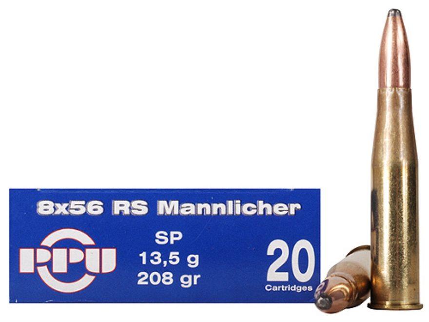 Prvi Partizan Ammunition 8x56mm Rimmed Hungarian (RS Mannlicher) 208 Grain Soft Point B...