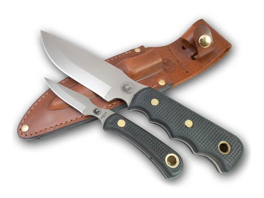 Knives of Alaska Bush Camp/Cub Bear Combination Fixed Blade Hunting Knife Set Rubber Ha...