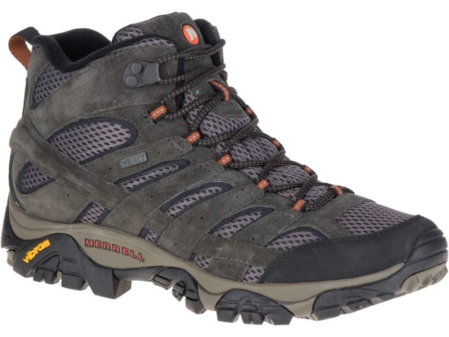 a7d91a1d7a0ec Merrell Moab 2 Mid 5 Hiking Boots Leather/Synthetic Beluga Men's 8.5 D