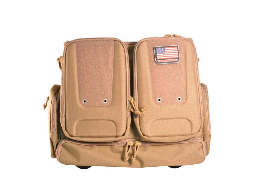 G.P.S. Tactical Rolling Handgunner Backpack Range Bag Tan