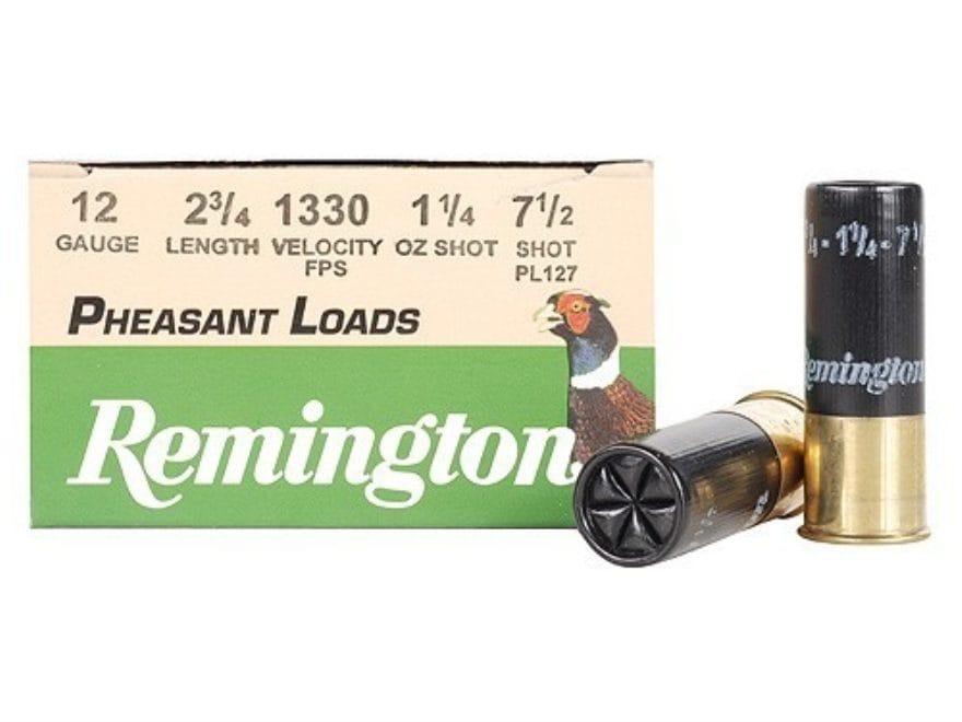 "Remington Pheasant Ammunition 12 Gauge 2-3/4"" 1-1/4 oz #7-1/2 Shot Box of 25"