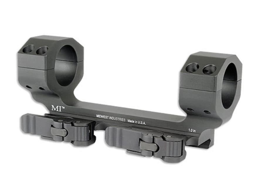 "Midwest Industries 1"" Heavy Duty QD Scope Mount Picatinny-Style Zero Offset Matte"
