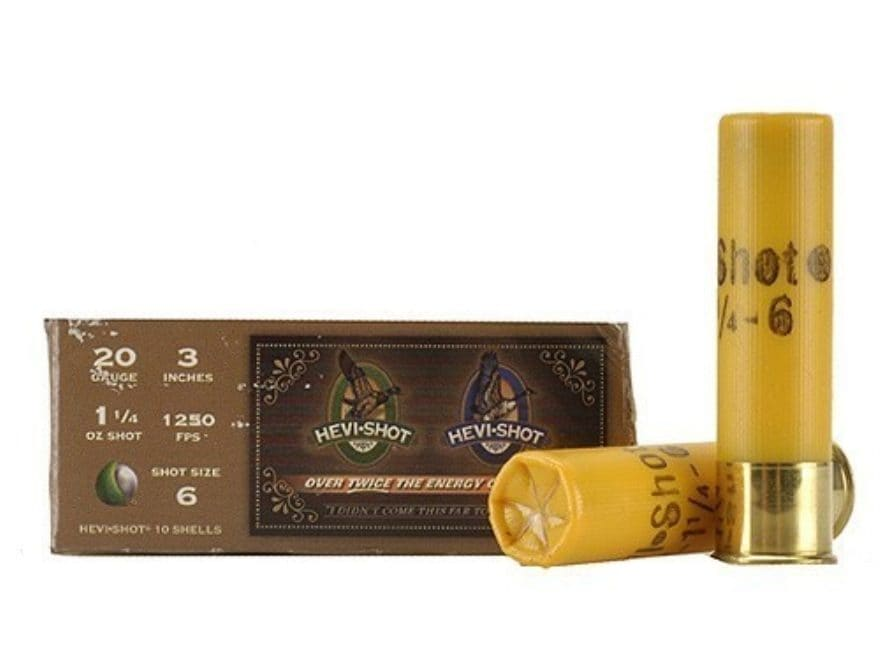 "Hevi-Shot Duck Waterfowl Ammunition 20 Gauge 3"" 1-1/4 oz Non-Toxic Shot"