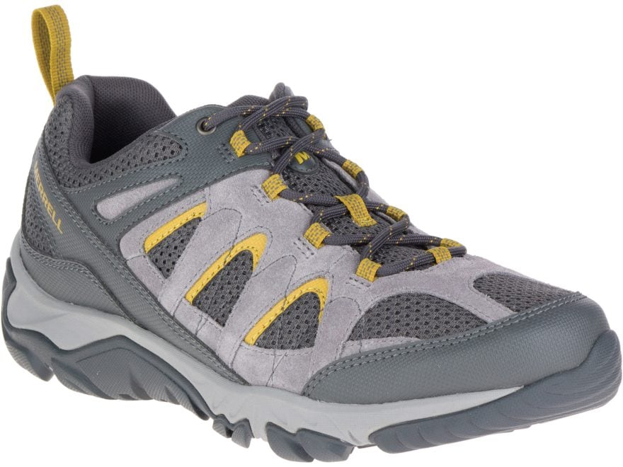 "Merrell Outmost Vent 4"" Hiking Shoes Synthetic Frost Gray Men's"