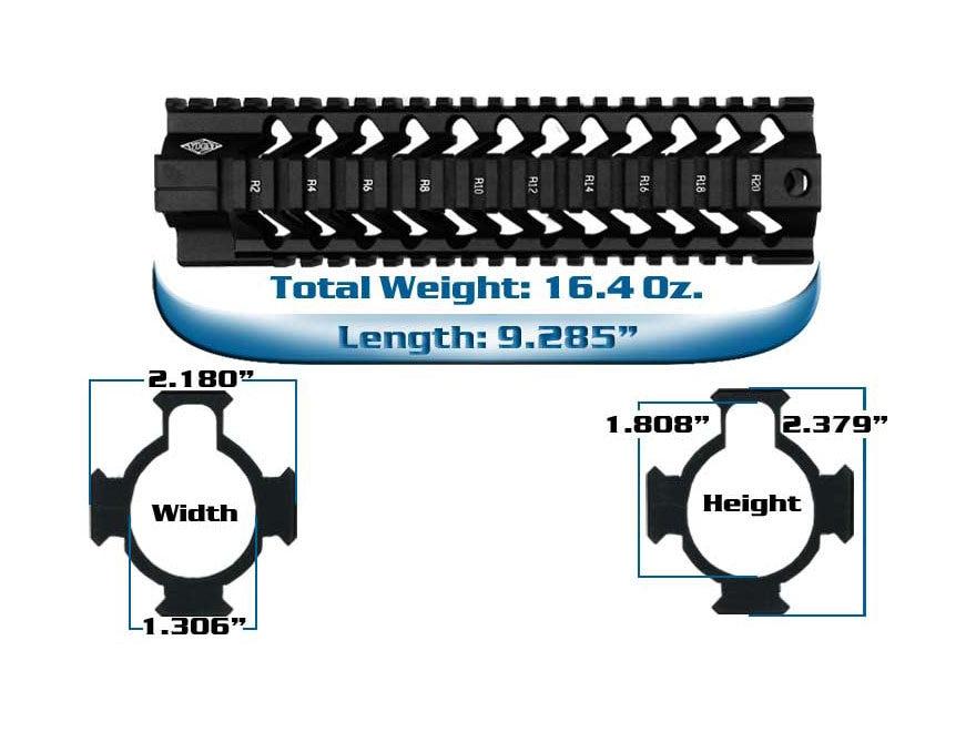 Yankee Hill Machine SLR Free Float Tube Quad Rail Handguard AR-15 Aluminum Matte