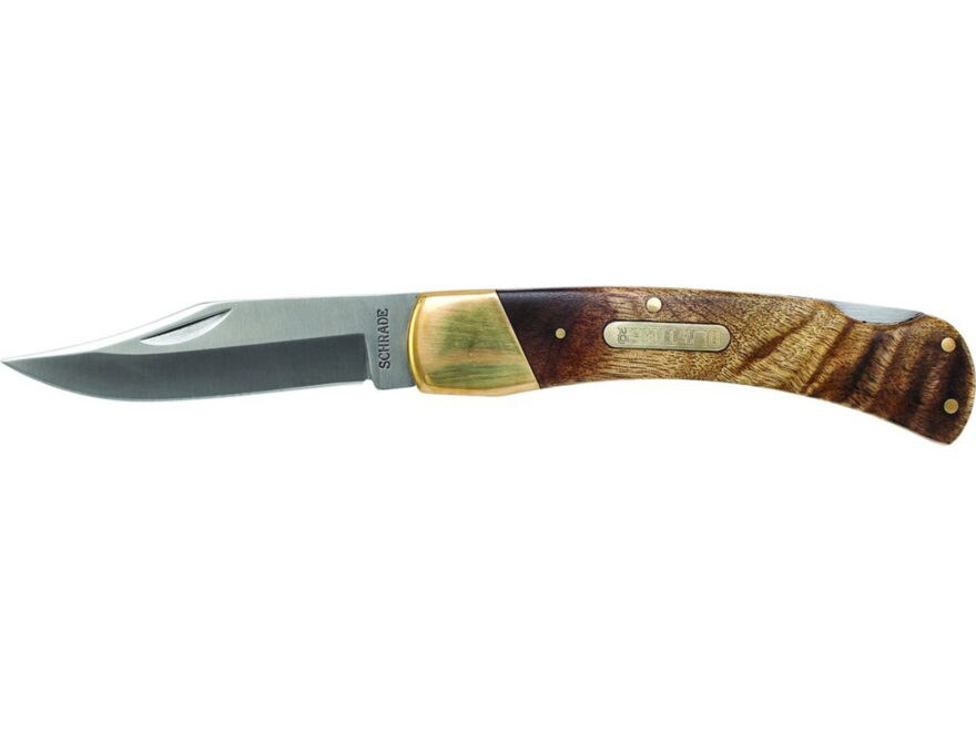 """Old Timer Golden Bear Folding Knife 3.9"""" Clip Point 7Cr17MoV High Carbon Stainless Stee..."""