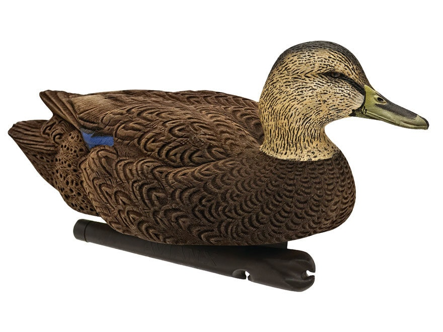 Avian-X Topflight Black Duck Weighted Keel Duck Decoy Pack of 6 (3 Drakes, 3 Hens)